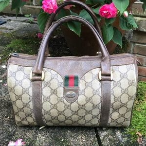 Vintage GUCCI Speedy Coated Canvas